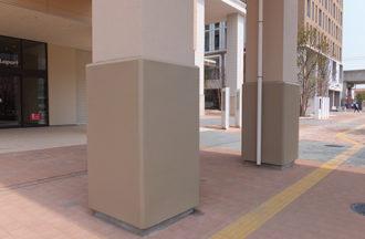 表面をLINE-Xで仕上げる屋外用防護マット